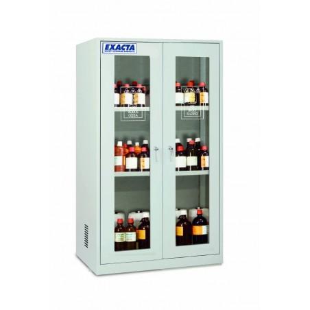 Armoire de stockage pour produits chimiques 2 portes vitrées