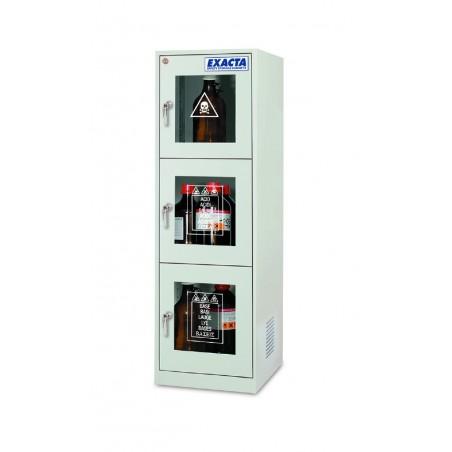 Armoire de stockage pour produits chimiques 3 portes vitrées