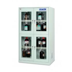 Armoire de stockage pour produits chimiques 4 portes vitrées