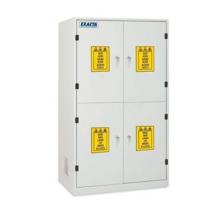 Armoire de stockage produits chimiques et corrosifs 4 portes