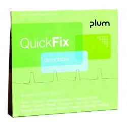 Recharge pansements détectables QuickFix PLUM