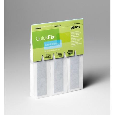 Recharge pansements détectables longs QuickFix PLUM
