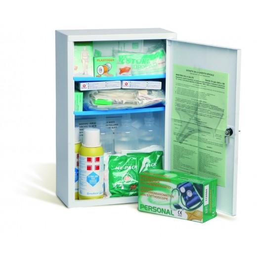 Armoire à pharmacie murale avec équipements premier secours
