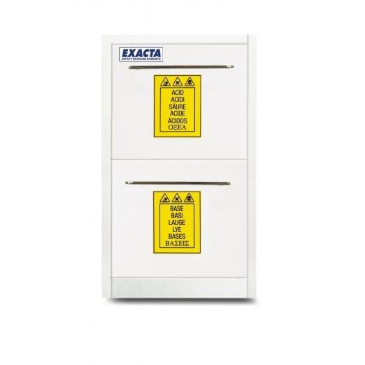 Armoire PP à 2 tiroirs pour stockage produits chimiques et corrosifs