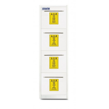 Armoire PP à 4 tiroirs pour stockage produits chimiques et corrosifs