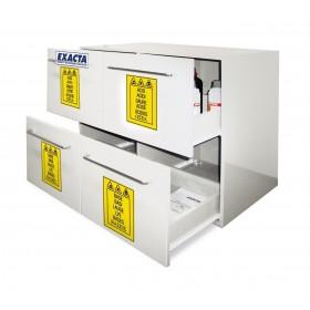 Armoire PP à 2+2 tiroirs pour stockage produits chimiques et corrosifs