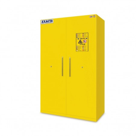 Armoire de stockage pour produits inflammables 2 portes jaunes