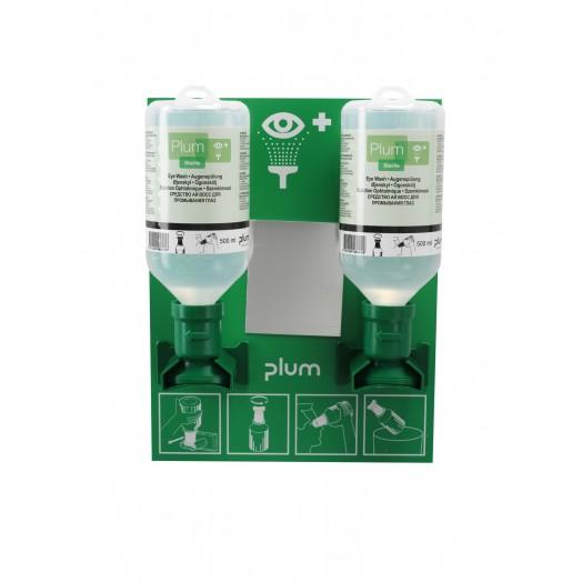 Station de lavage oculaire 2 flacons PLUM