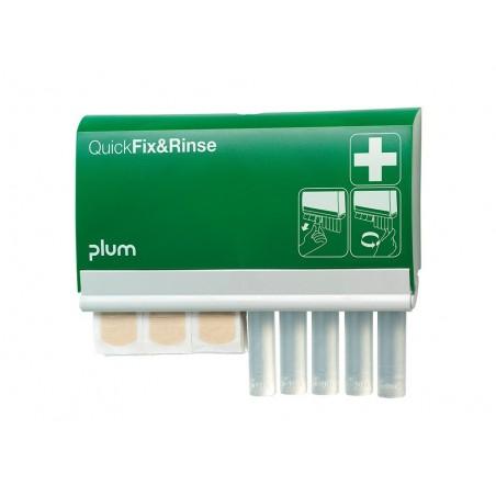 Distributeur ampoules de lavage oculaire + pansements PLUM