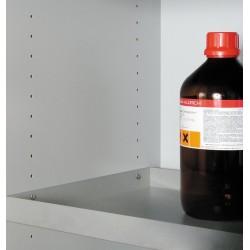 Etagère additionnelle acier inox pour armoire 1 porte L600