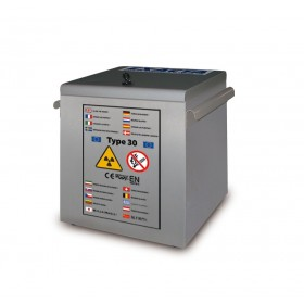 Coffre stockage inox produits inflammables radioactifs