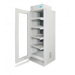 Armoire avec hotte ventilée à filtration moléculaire 1 porte vitrée