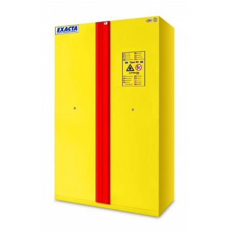 Armoire de stockage produits inflammables L1200 jaune