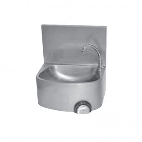 Lave mains inox cuve semi circulaire