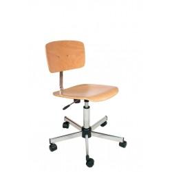 Chaise ajustable Bois à roulettes