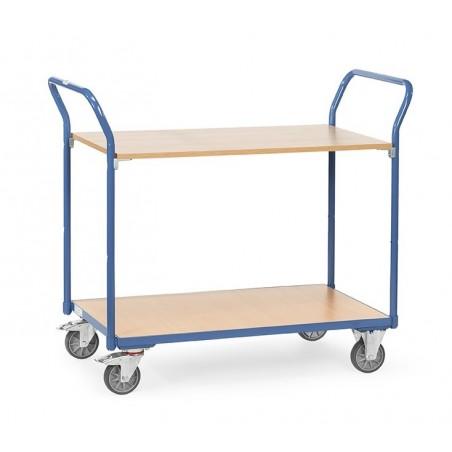 Chariot à 2 plateaux FETRA charge 200 kg