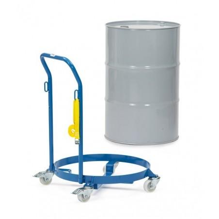 Rouleur de fûts 60 à 200 litres avec dossier et sangle