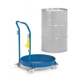 Rouleur étanche de fûts 60 à 200 litres avec dossier et sangle