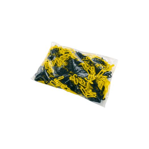 Chaîne balisage jaune et noir 25 m