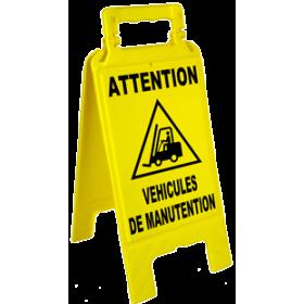 Chevalet attention véhicules de manutention