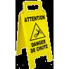 Chevalet attention danger de chute