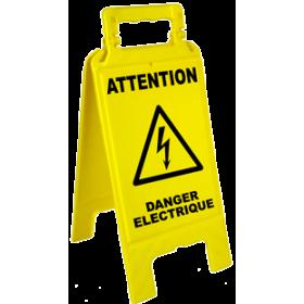Chevalet attention danger électrique