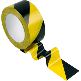 Ruban adhésif jaune et noir
