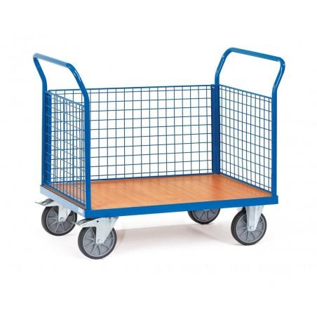 Chariot FETRA à 3 ridelles en treillis métallique