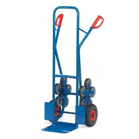 Diable acier 200 kg avec 5 roues pour escalier