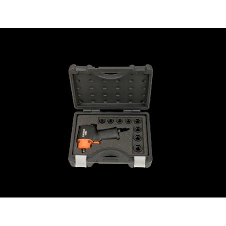 Coffret 8 douilles 13-24 mm et clé à chocs courte 1/2'' BAHCO 678 Nm