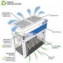 Hotte à filtration particulaire pour vapeurs dangereuses