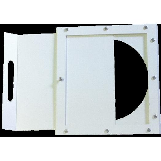 Registre plat à guillotine en PVC idéal pour hotte de chimie