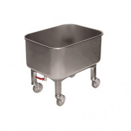 Cuve inox roulante avec robinet de vidange