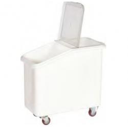 Chariot pour sel et farine en PEHD 102 L
