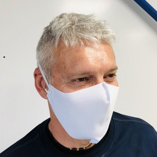 Masque de protection anti virus en tissu lavable et réutilisable covid-19