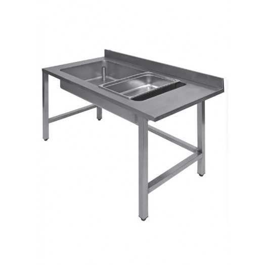 Table inox de travail avec laverie intégré