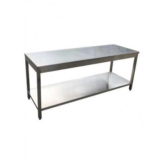 Table inox AISI 304 démontable et personnalisable
