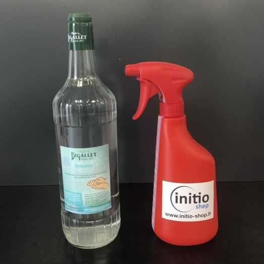 Solution hydroalcoolique de 1L idéale pour la désinfection des mains et des surfaces