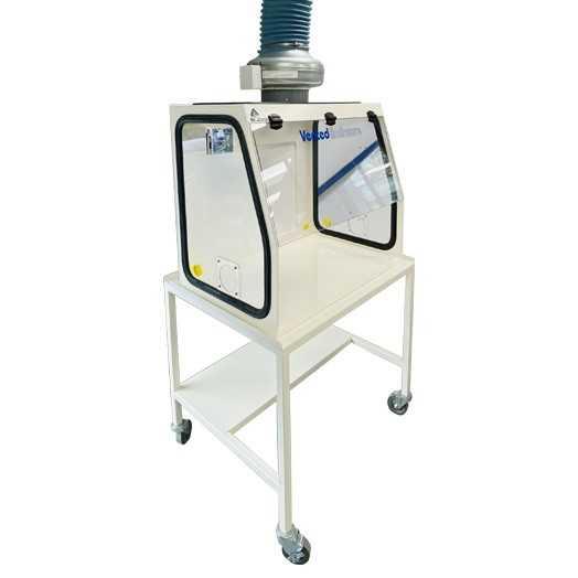 Hotte aspirante avec ventilateur pour extraction chimique