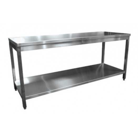Table de inox AISI 304 pour laboratoire cuisine et industrie
