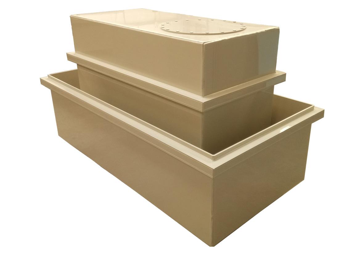 cuve polypropylène pour le stockage de produits chimiques corrosifs